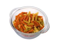 Fusilli, close up. Royalty Free Stock Image