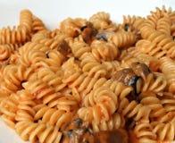 Fusilli Fungi. Pasta in tomato sauce stock photography