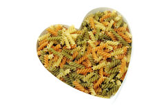 Fusilli heart Stock Photo
