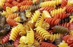 Fusilli italian pasta background Royalty Free Stock Photography