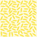 Fusilli Italian pasta Seamless pattern. Stock Photography