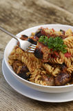 Fusilli pasta  Royalty Free Stock Photos