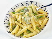 Fusilli pasta with Asparagus Royalty Free Stock Image