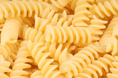 Fusilli pasta background Royalty Free Stock Image