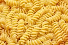 Fusilli pasta. Boiled in kitchen royalty free stock photos