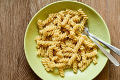Fusilli Pasta royalty free stock images