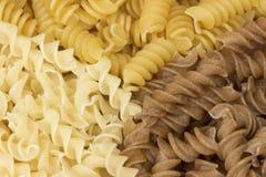 Fusilli pasta close up Stock Photography