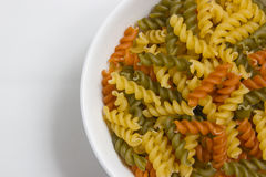Fusilli pasta colored Stock Photography
