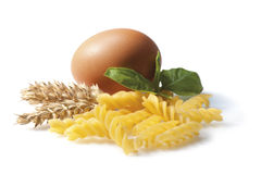 Fusilli pasta composition Stock Photo