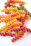 Fusilli pasta flavors Stock Photos