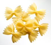 Fusilli. pasta. group of bows on white background Stock Images