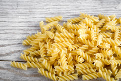Fusilli pasta pile Royalty Free Stock Images