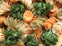 Fusilli pasta salad Royalty Free Stock Images