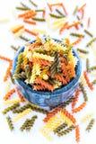 Fusilli Pasta. Uncooked Fusilli Pasta- Popular Italian Pasta Royalty Free Stock Photos