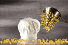 Fusilli su scolapasta Royalty Free Stock Photo