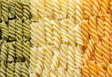 Fusilli-Teigwaren-Italienerflagge Stockbild