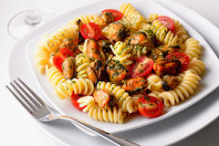 Fusilli traditionnel italien photographie stock