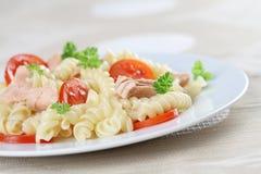 Fusilli with tuna Stock Photography