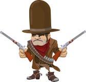 fusils de bandit armé de cowboy Photographie stock libre de droits