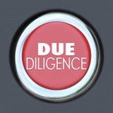 Fusión Acquisiti de Car Start Button Research Company de la diligencia debida Imagen de archivo