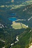 Fusine湖,塔尔维肖 意大利 免版税图库摄影