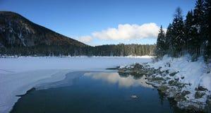 Fusine higher lake panorama Stock Image