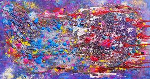 Fusion Abstract, Art Work. Abstract image from original hand- painted artwork stock image