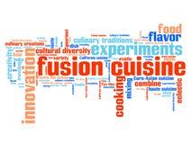 Fusion cuisine Stock Image