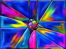 Fusion de couleur Photos libres de droits
