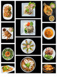 Fusion food stock images