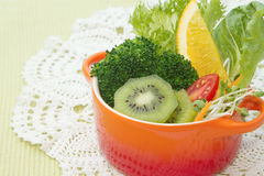 Fusion food, fruit and vegetable salad Royalty Free Stock Images