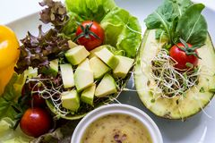 Fusion Food. Many kind of vegetable for healthy eating stock image
