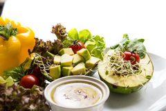Fusion Food. Many kind of vegetable for healthy eating stock photography