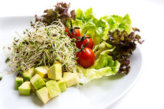 Fusion Food. Many kind of vegetable for healthy eating stock photo