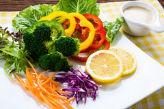 Fusion Food. Many kind of vegetable for healthy eating stock images