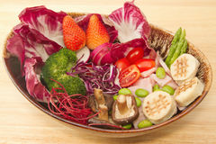Fusion food,vegetable salad Royalty Free Stock Photography