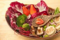 Fusion food,vegetable salad Stock Photo