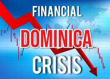 Fusion globale d'accident du marché de Dominica Financial Crisis Economic Collapse illustration libre de droits