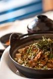 Fusion Japanese dishes - tofu beef set Royalty Free Stock Images