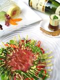 Fusion Japanese food. The art of raw fusion Japanese food at its best Stock Photo