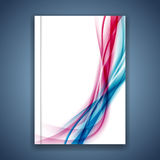 Fusion line folder cover over white concept Stock Image