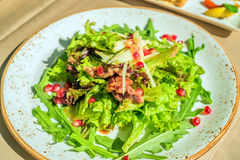 Fusion salad with duck meat Royalty Free Stock Photography