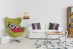 Fusion of styles and patterns in a contemporary interior Stock Photo