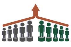Fusion und Wachstum Abstraktion auf einem weißen Hintergrund Lizenzfreies Stockfoto
