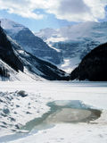 Fusione congelata di Lake Louise Immagini Stock