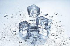Fusione dei cubi di ghiaccio Immagini Stock
