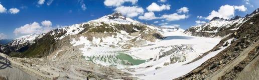 Fusione del ghiacciaio di Rhone Immagine Stock Libera da Diritti