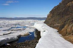 Fusione del ghiaccio marino fotografia stock libera da diritti