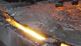Fusione del minerale metallifero del quarzo stock footage