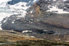 Fusione della strada panoramica di Icefield Immagini Stock
